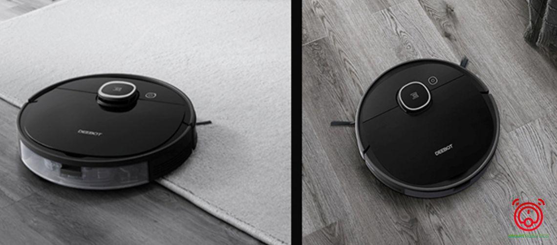 Robot lau sàn Ecovacs Deebot T5 Hero khả năng leo thảm cũng như các gờ cửa một cách dễ dàng