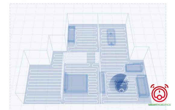 DN55 tự động tạo bản đồ và phân vùng khu vực làm sạch
