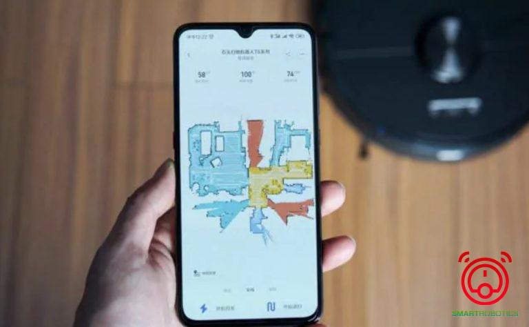 Người dùng có thể chọn vùng làm sạch trên điện thoại