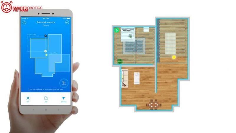 Khả năng tạo bản đồ thông minh của Máy hút bụi lau nhà Xiaomi roborock gen 2