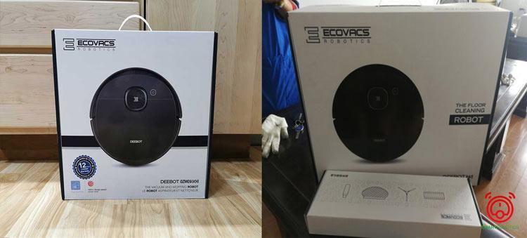 Robot hút bụi Ecovacs T5 Hero (bên phải) và Ecovacs Deebot Ozmo 950 bản quốc tế (bên trái)
