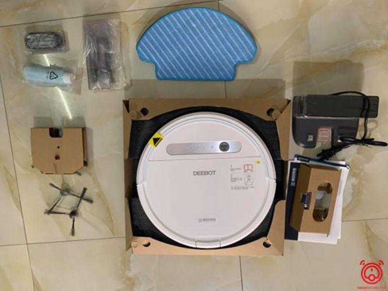 Cấu tạo đơn giản, dễ sử dụng của robot Ecovas DD37