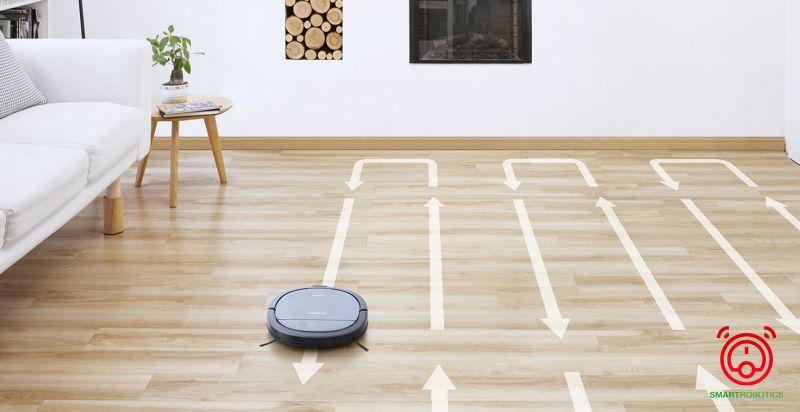 Di chuyển thông minh giúp robot Ecovacs Deebot DK33 không bỏ sót bất kỳ khu vực sàn nào