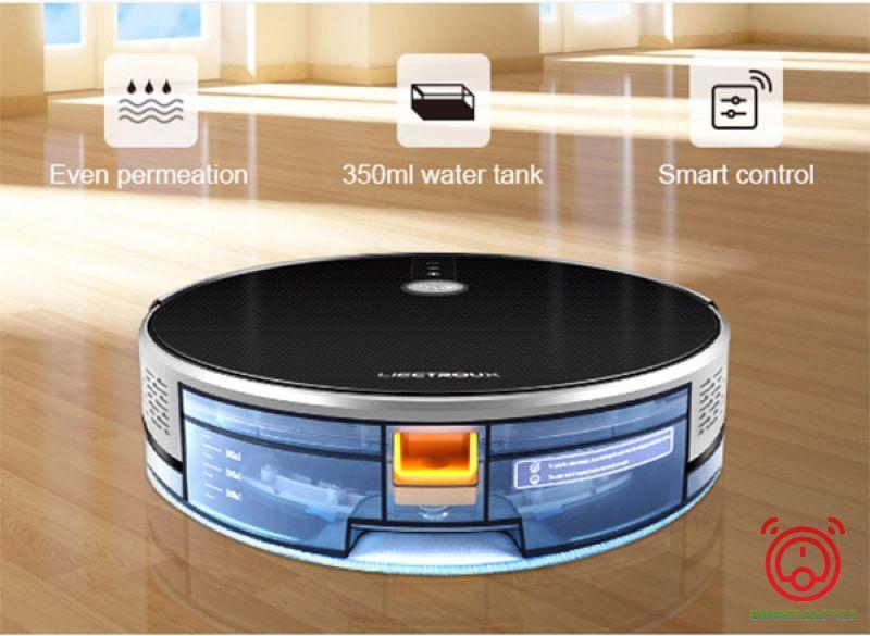 Liectroux C30B với thiết kế bể nước thông minh giúp loại bỏ vết bẩn hiệu quả