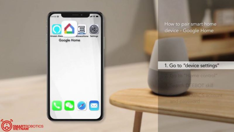 Khả năng kết nối thông minh với Google Assistant