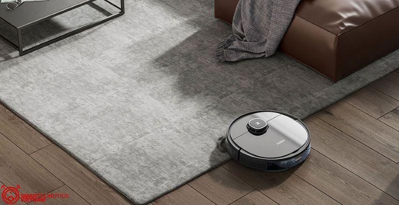 Vẻ ngoài ấn tượng của robot dọn nhà Ecovacs phù hợp với nhiều không gian thiết kế