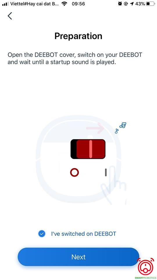 Hướng dẫn cài app điều khiển robot hút bụi Ecovacs