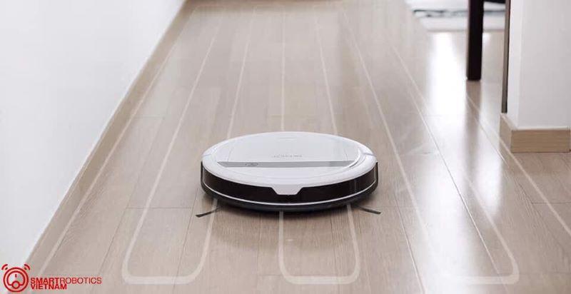Đường di chuyển thông minh của robot hút bụi Ecovacs