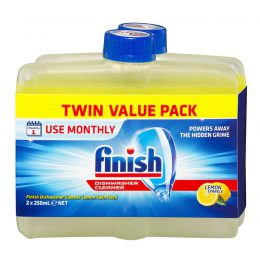 Dung dịch tẩy rửa máy rửa chén Finish Dishwasher Cleaner hương chanh 2x250ml 14