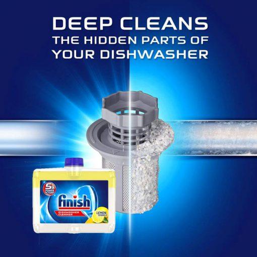 dung dịch tẩy rửa máy rửa chén Finish Dishwasher Cleaner hương chanh