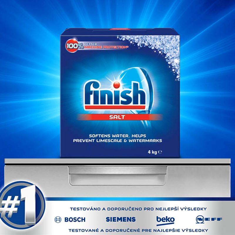 Muối rửa chén Finish Dishwasher Salt 4kg đánh bay vết bẩn