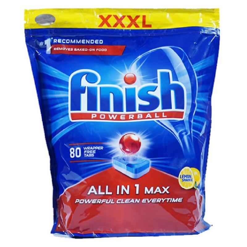 Viên Rửa Chén Finish All In One Max 80 Viên Hương Chanh 1