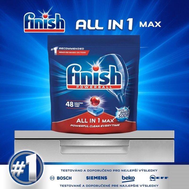 Viên rửa chén Finish All In 1 Max Soda 48 viên