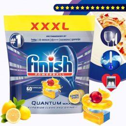 Finish Quantum Max 60 viên hương chanh