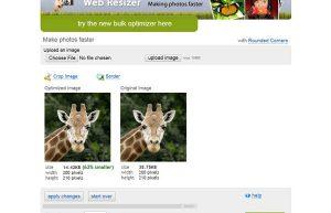 Phần mềm giảm dung lượng ảnh WebResizer