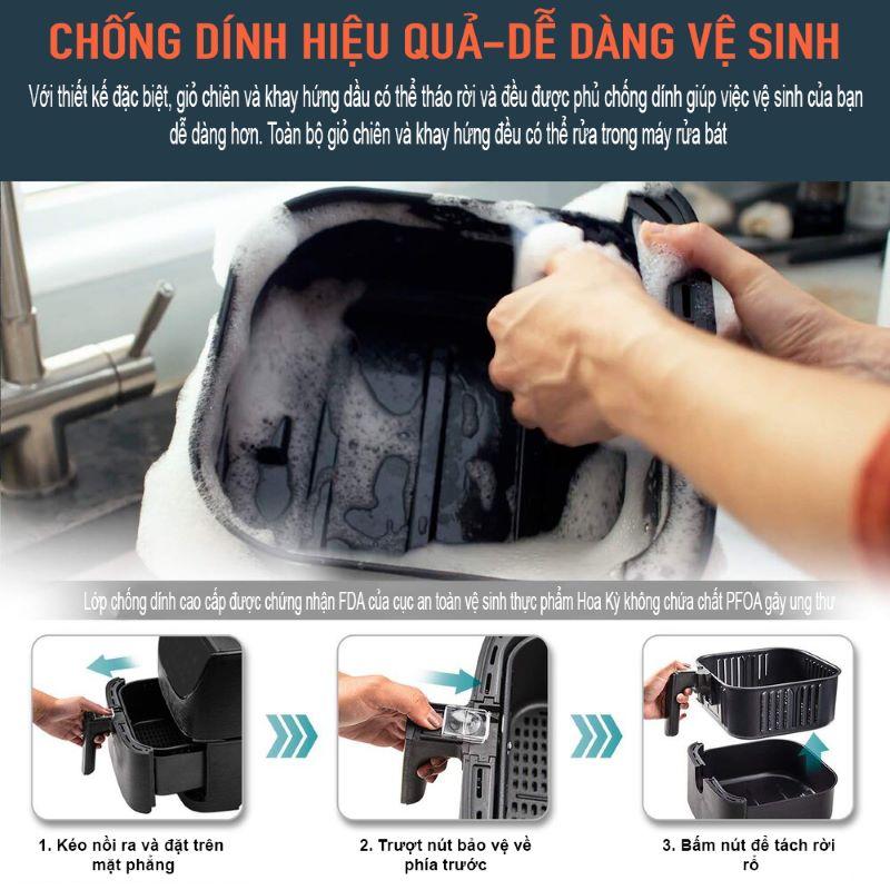 Dễ dàng vệ sinh và lau chùi sau khi sử dụng
