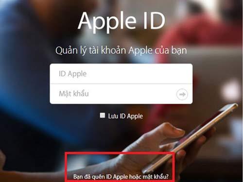 Truy cập vào trang quản lý tài khoản của Apple