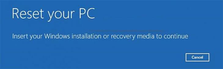 Window sẽ tiến hành lại máy tính