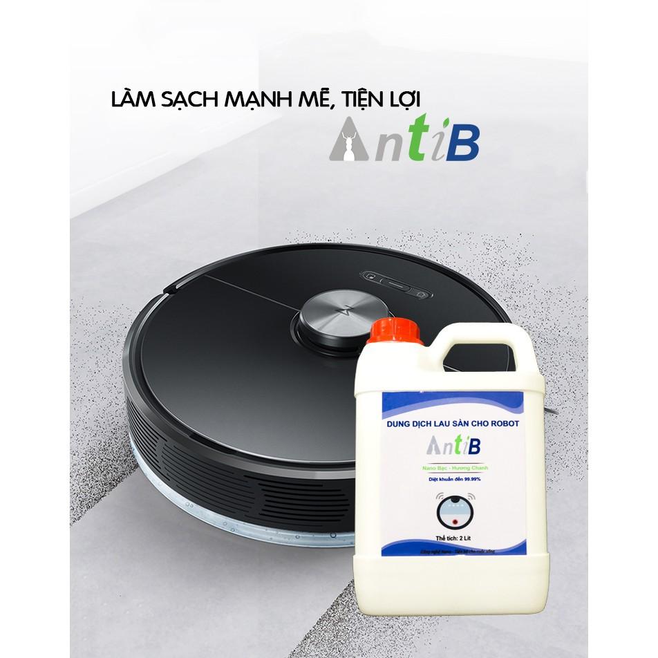 Dung dịch lau sàn Antib - chuyên dụng dành cho robot được sản xuất từ những nguyện liệu xanh tự nhiên giúp bảo vệ môi trường