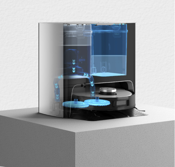 Robot hút bụi lau nhà Ecovacs Deebot X1 Turbo tự động giặt giẻ lau