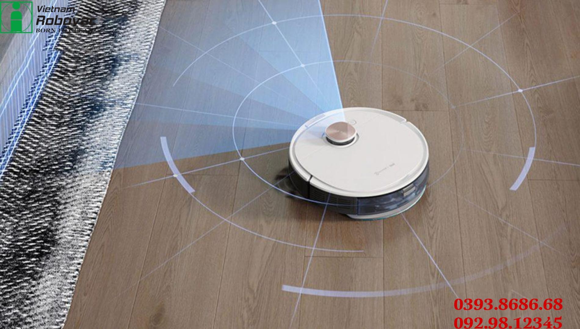 Robot hút bụi lau nhà thông minh Ecovacs DEEBOT OZMO T8, Bản Quốc tế 12